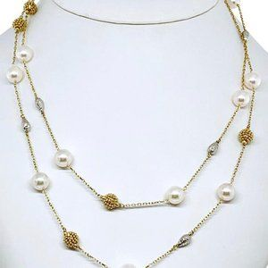 "Akoya Pearl 37.75"" Ladies Necklace"
